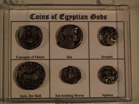 Egyptian Coins Coins of The Egyptian Gods